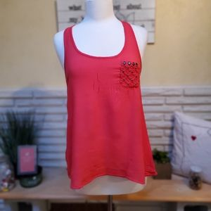 Racerback Tank Top with Accent